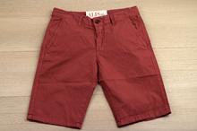 Модни къси мъжки панталони - MEN VOGUE SERIES - светло бордо