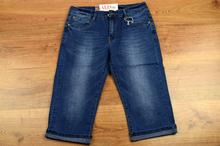 Модни къси 7/8 дамски дънки - ALEXIS - сини
