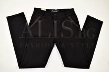 Дамски елегантен дънков панталон големи размери