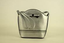 Малка дамска чанта - LILY - сребриста