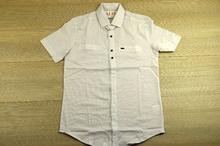 Памучна мъжка риза с къс ръкав - NOSEDA - бяла