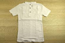 Спортно - елегантна риза с къс ръкав - MEN - бяла