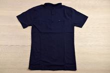 Спортно - елегантна риза с къс ръкав - MEN - тъмно синя