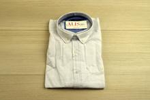 Комфортна мъжка риза - LINEN -бяла до 5XL