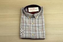 Ленена мъжка риза - LINEN - светла на цветни ивици