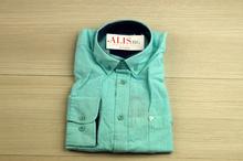 Ленена мъжка риза - LINEN - светло зелена с дълъг ръкав до 5XL