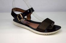 Модни дамски сандали - DANY - черен лак
