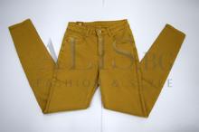 Дамски панталон голям размер - DAYNA - цвят карамел