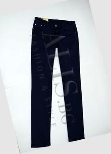 Дамски дънки голям размер - ELIZABETH - тъмно сини, изчистени