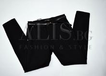 Дамски панталон голям размер - AB - черен