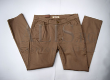 Дамски панталон голям размер - KAYLA - бежов