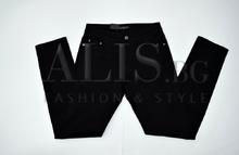 Дамски панталон голям размер - ABIGAIL - черен