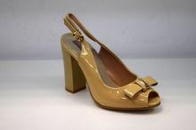 Елегантни дамски сандали - STYLE - бежов лак