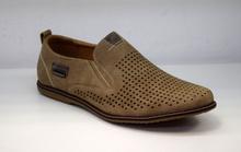 Стилни мъжки обувки - JARED - бежови с перфорация