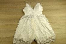 Дамски гащеризон тип къса рокля - EVA - бял