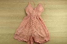 Дамски гащеризон тип къса рокля - EVA - розов