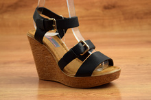 Стилни сандали на платформа - JASMINE - черни