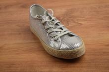 Дамски обувки с пайети - ALEXANDRIA - сребристи