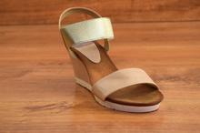Дамски сандали - GOLD - светло бежови със златисто