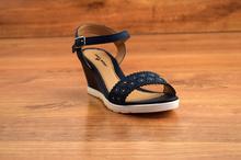 Дамски сандали  - FASHION - тъмно сини