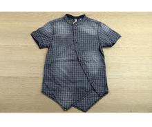 Спортно - елегантна риза с къс ръкав - BOY STYLE - синя от 8 до 16 годишни