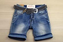 Къси дънки за момче -SG- сини с колан за 10 и 16 години