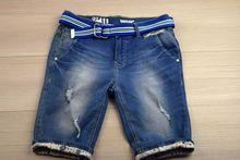 Къси дънки за юноши - тъмно сини от 13 до 16 години