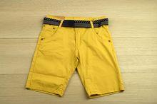 Къси панталони за юноши - цвят горчица от 8 до 16 години