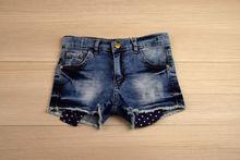 Къси панталонки - LILIAN - тъмно сини от 8 до 12 годишни
