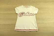 Блуза с къс ръкав - LILY - бяла от 4 до 8 годишни