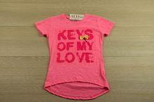 Детска блуза с къс ръкав - LOVE - розова за 4, 6, 8 годишни