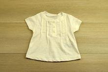 Детска блуза с къс ръкав - бяла от 6 до 24 месечни