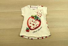 Детска блуза с къс ръкав - SWEET SUMMER - бяла от 9 до 36 месечни