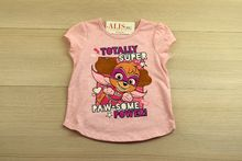 Детска блуза с къс ръкав - SUPER RAW SOME - розова от 1 до 5 годишни