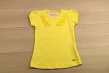 Детска блуза с къс ръкав - жълта от 2 до 6 годишни