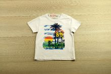 Детска тениска за момчета - бяла за 2 и 3 годишни