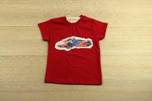 Детска тениска за момчета - RED - за 3 и 4 годишни