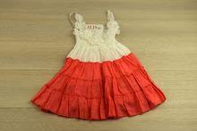 Свежа детска рокля в цвят корал за 2 и 4 годишни