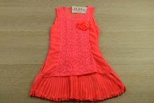 Кокетна детска рокля - розова за 4, 6, 8 годишни