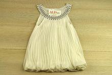 Ефектна детска рокля - бяла за 2 годишни