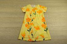 Слънчево жълта детска рокля за 4,6,10 годишни