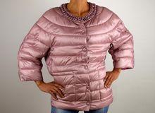 Дамско пролетно есенно яке - 1501 - розово големи размери