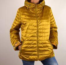 Дамско яке с две лица - 1503 - цвят горчица големи размери