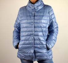 Дамско яке с две лица - 1507 - синьо големи размери