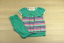 Комплект за момичета в свежо зелено - 4 годишни