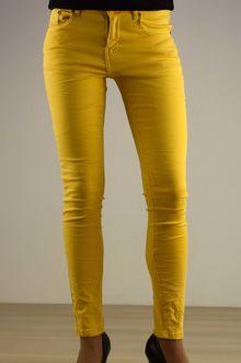 Дамски панталон - 028 - жълт
