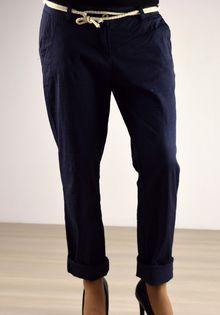 Ефирен дамски панталон - 029 - тъмно син