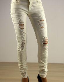 Дамски панталон -032 - бял