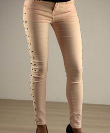 Дамски панталон с капси - 036 - розов