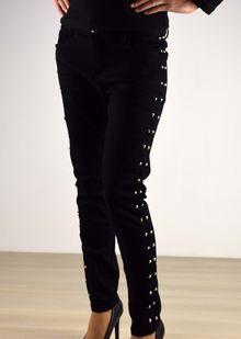 Дамски панталон с капси - 036 - черен
